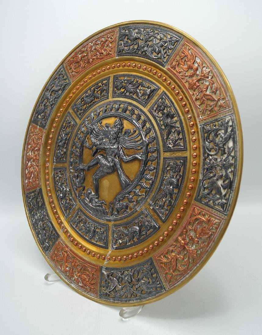 PR. METAL INDIAN DECORATED WALL PLAQUES - 3