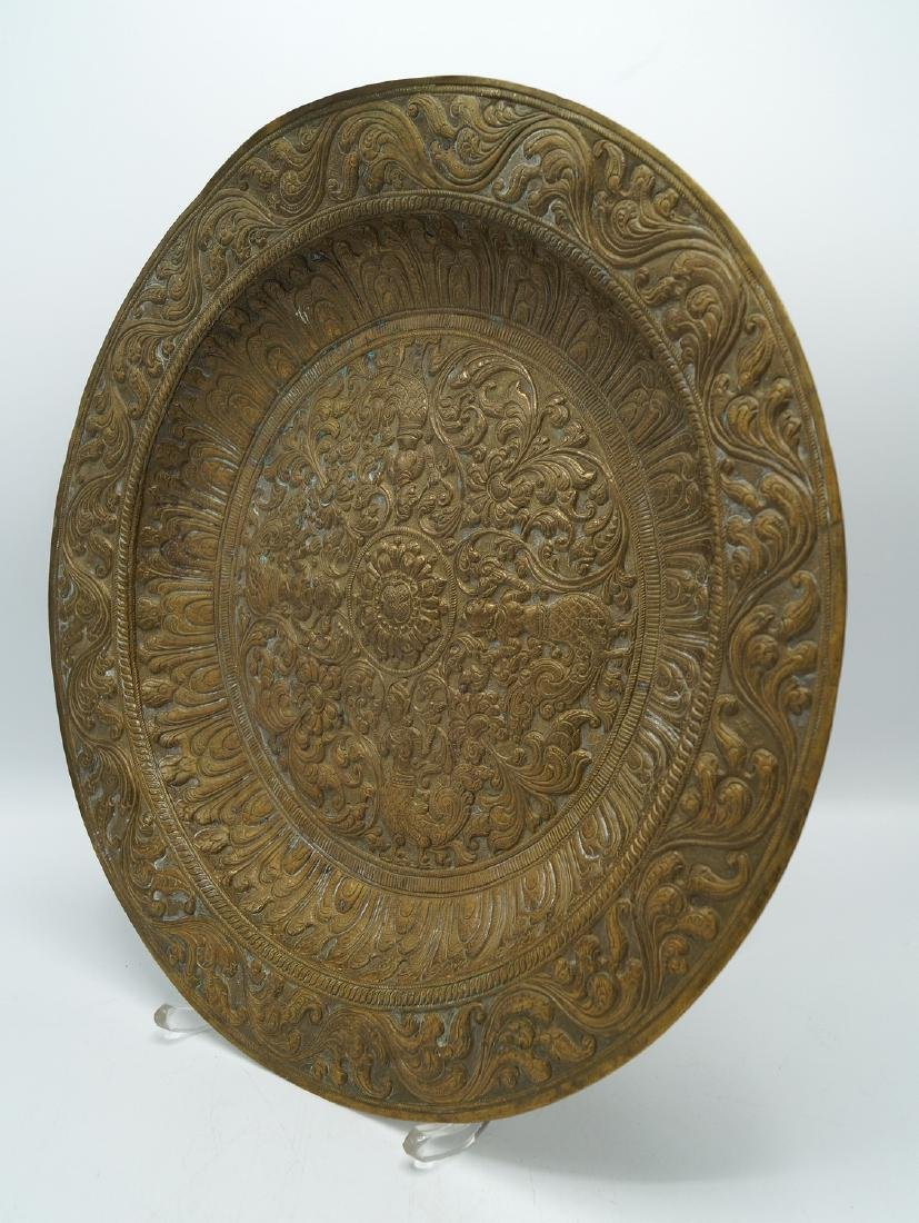 PR. METAL INDIAN DECORATED WALL PLAQUES - 6