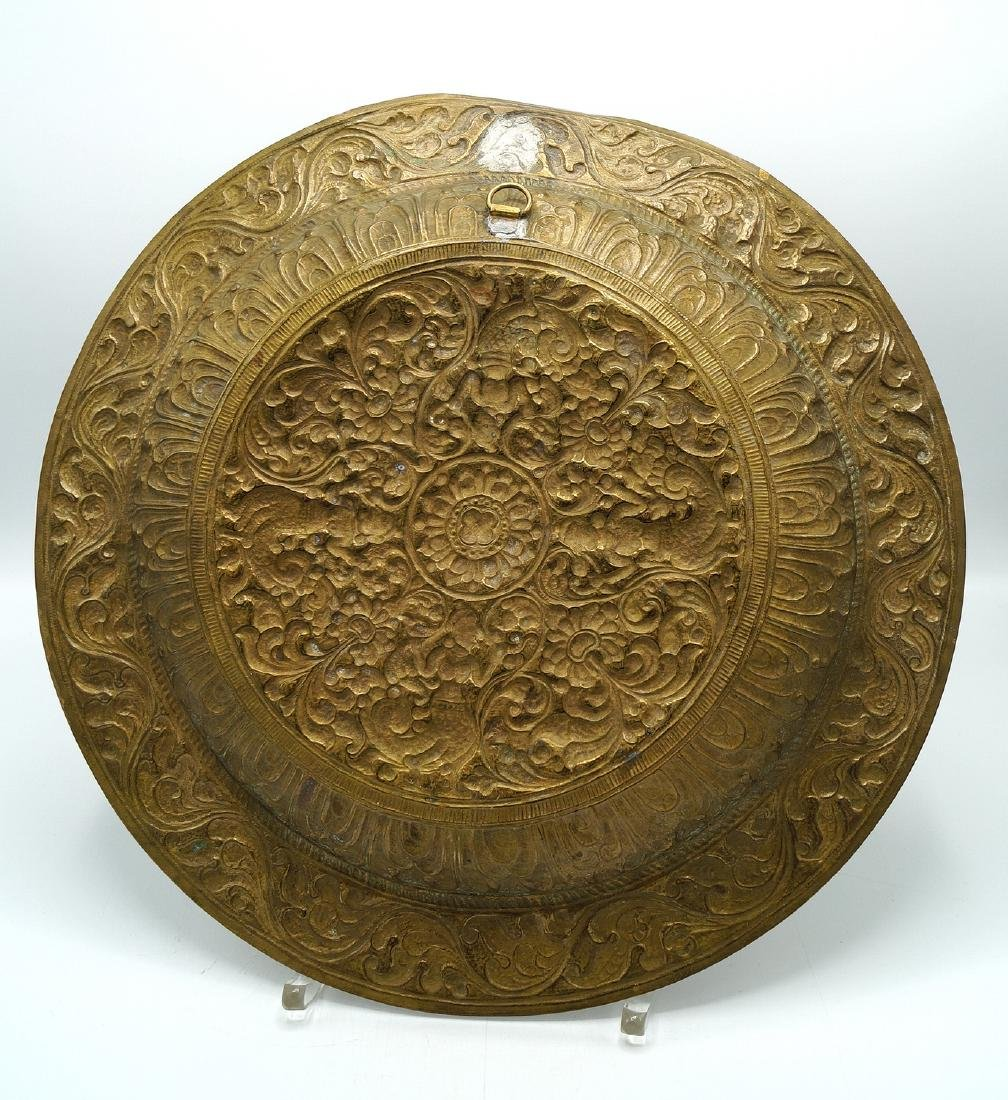 PR. METAL INDIAN DECORATED WALL PLAQUES - 8