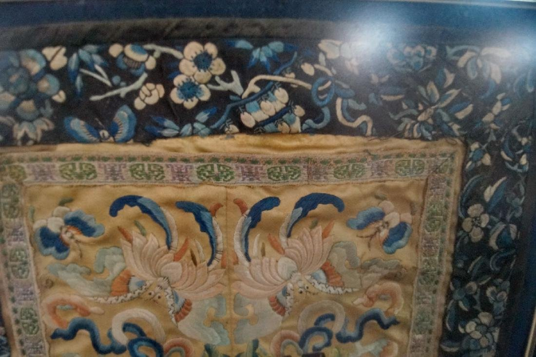 FRAMED ASIAN SILK EMBROIDERY - 3