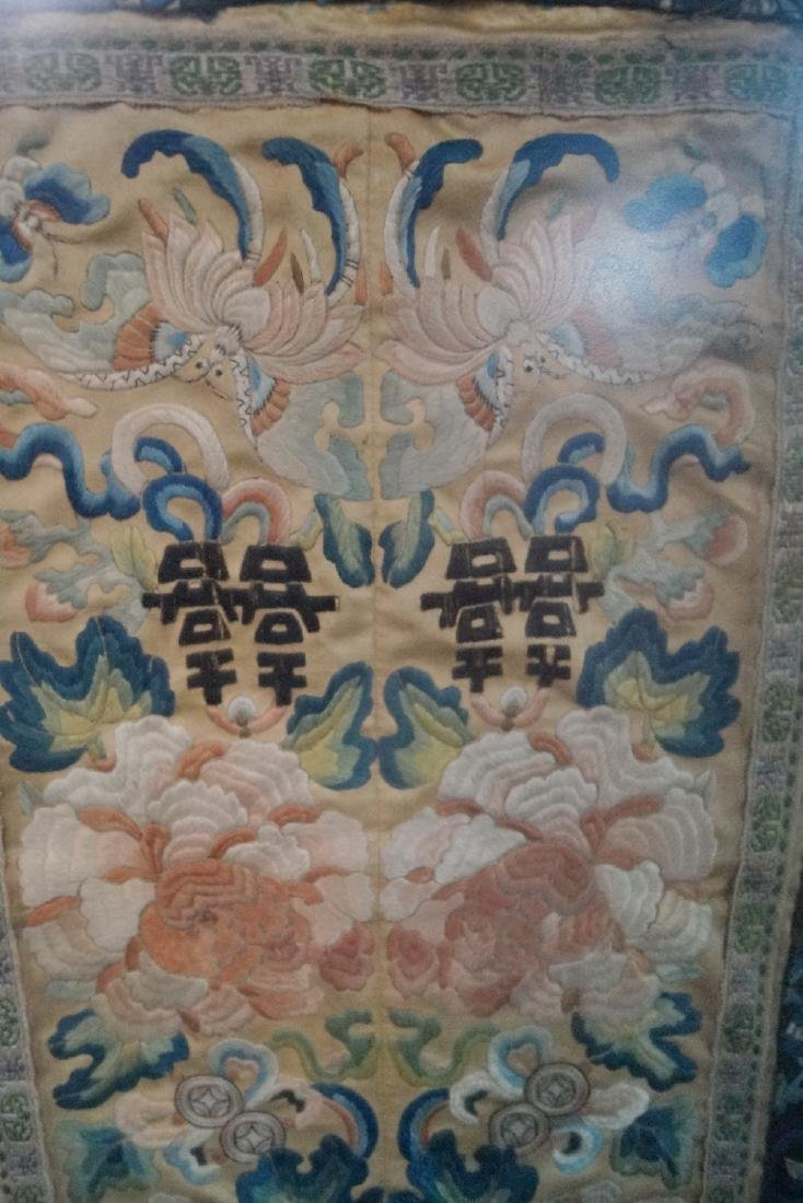 FRAMED ASIAN SILK EMBROIDERY - 4