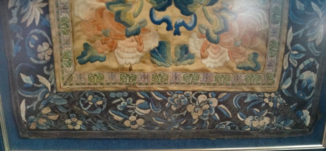 FRAMED ASIAN SILK EMBROIDERY - 5