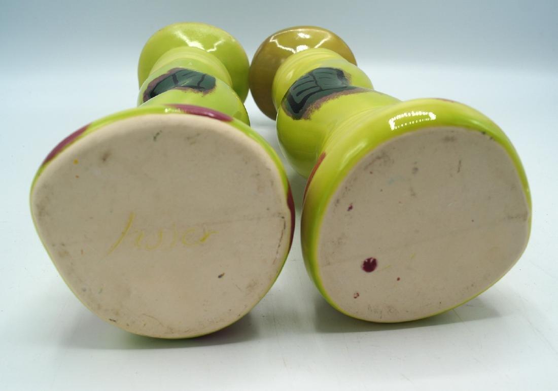 PR. CERAMIC CANDLESTICKS LENOX CANDY DISH & BLUE GREEN - 6