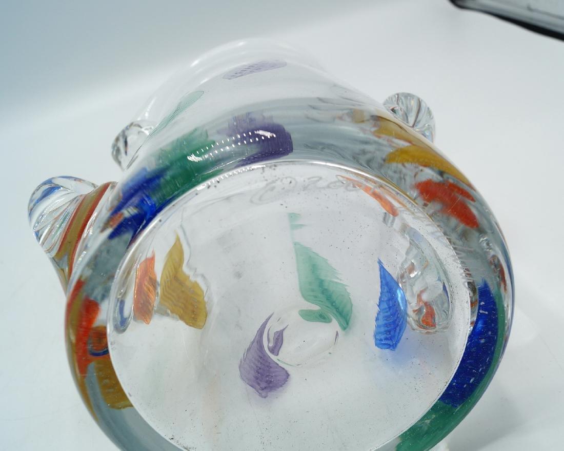 CRYSTAL ART GLASS VASE  SGN. - 5