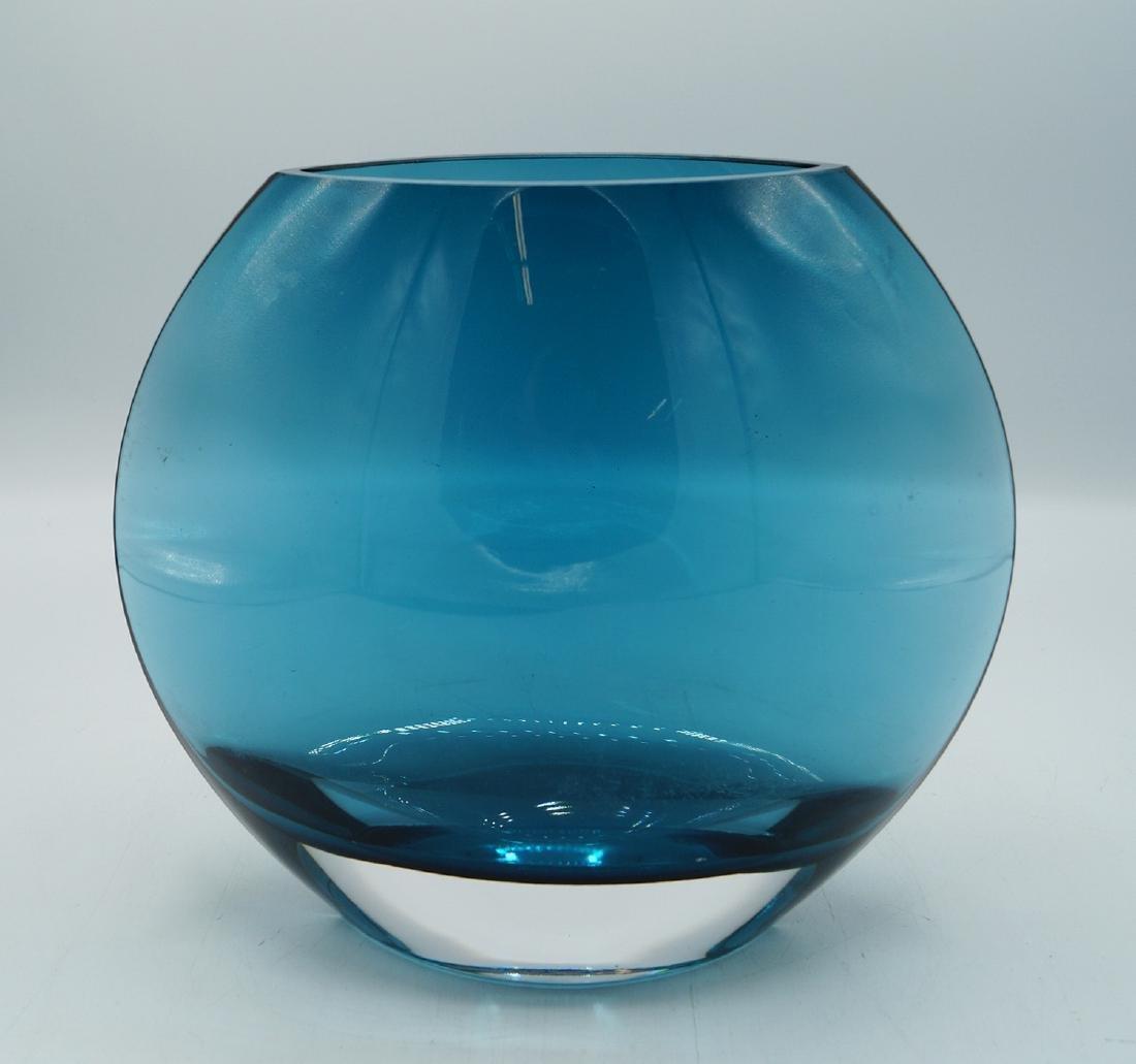 ITALIAN BLUE GLASS VASE