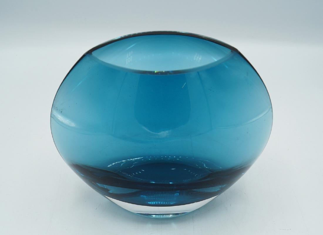 ITALIAN BLUE GLASS VASE - 2