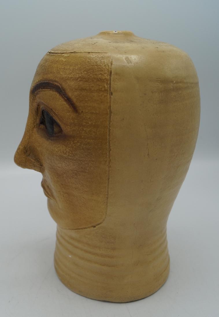 CERAMIC HEAD VASE INITIALED - 3