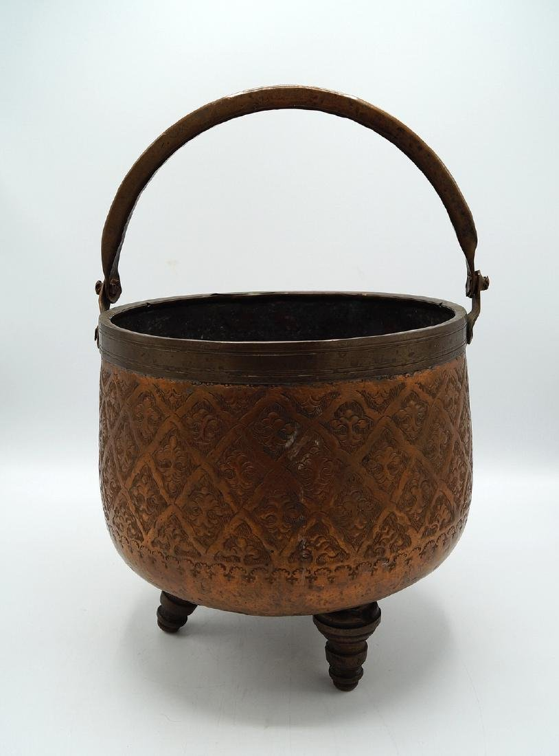 COPPER FOOTED CAULDRON