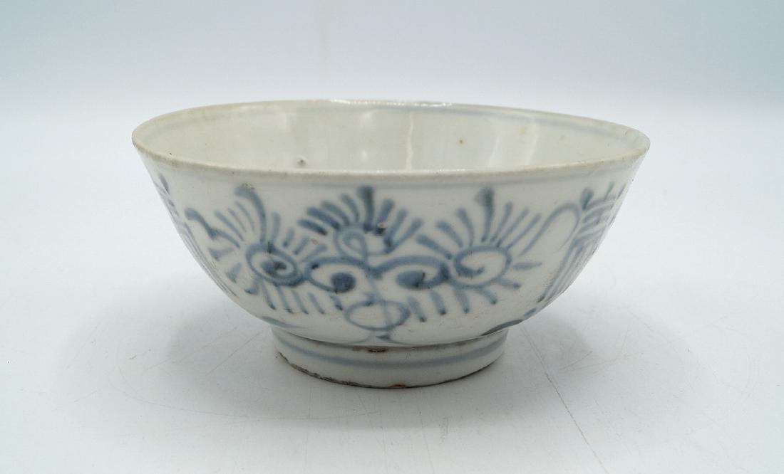 ASIAN PORCELAIN BLUE & WHITE BOWL