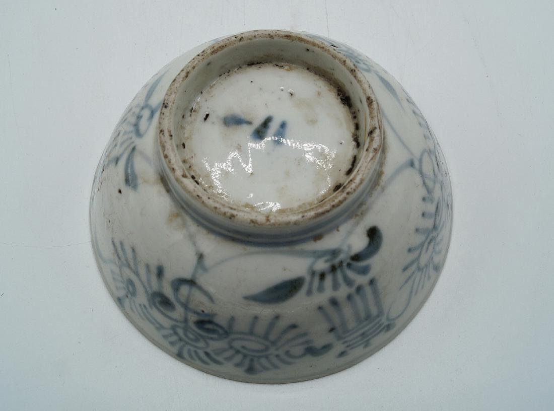 ASIAN PORCELAIN BLUE & WHITE BOWL - 3