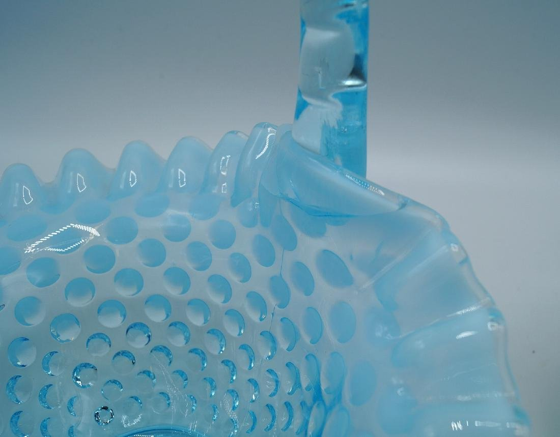 3 PCS. BLUE HOBNAIL GLASS - 6