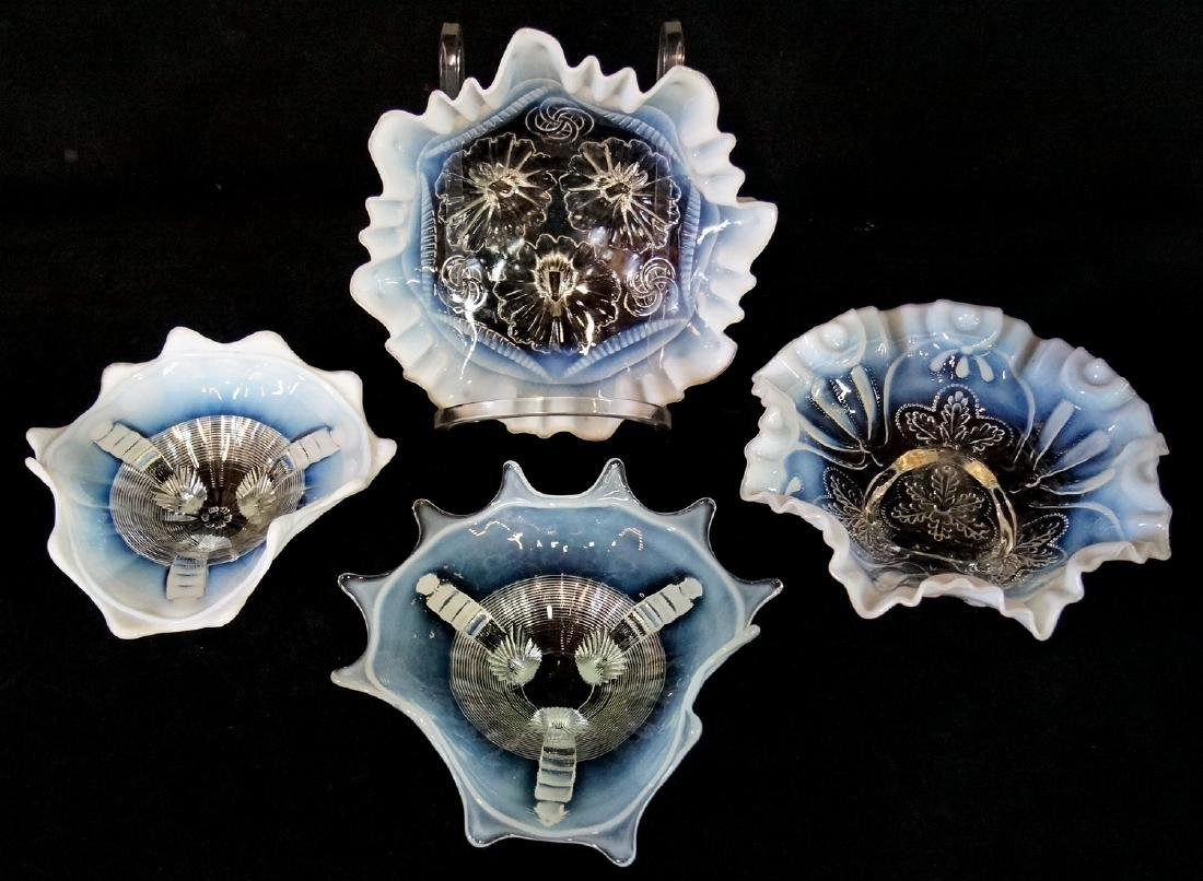 4 CLEAR TO WHITE CARNIVAL BOWLS