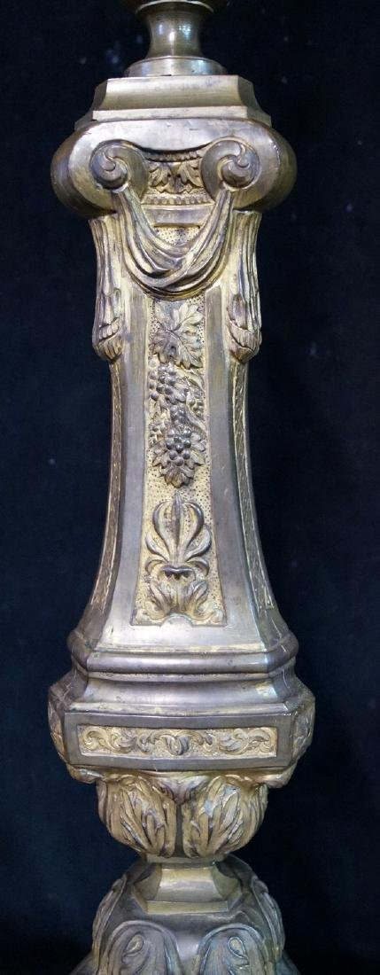 BRONZE POLE LAMP WITH CLAW FEET - 5