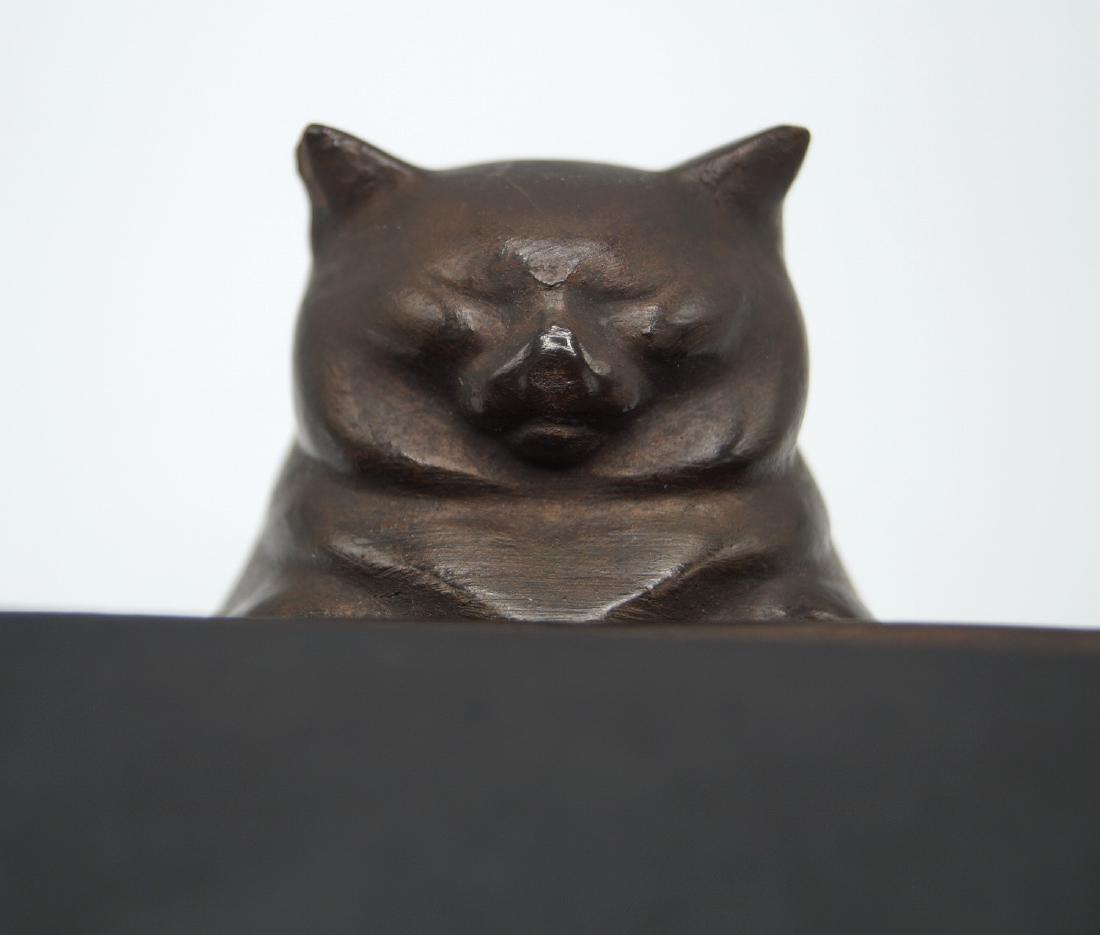 ALVA STUDIOS CAT ON PLYNTH - 6