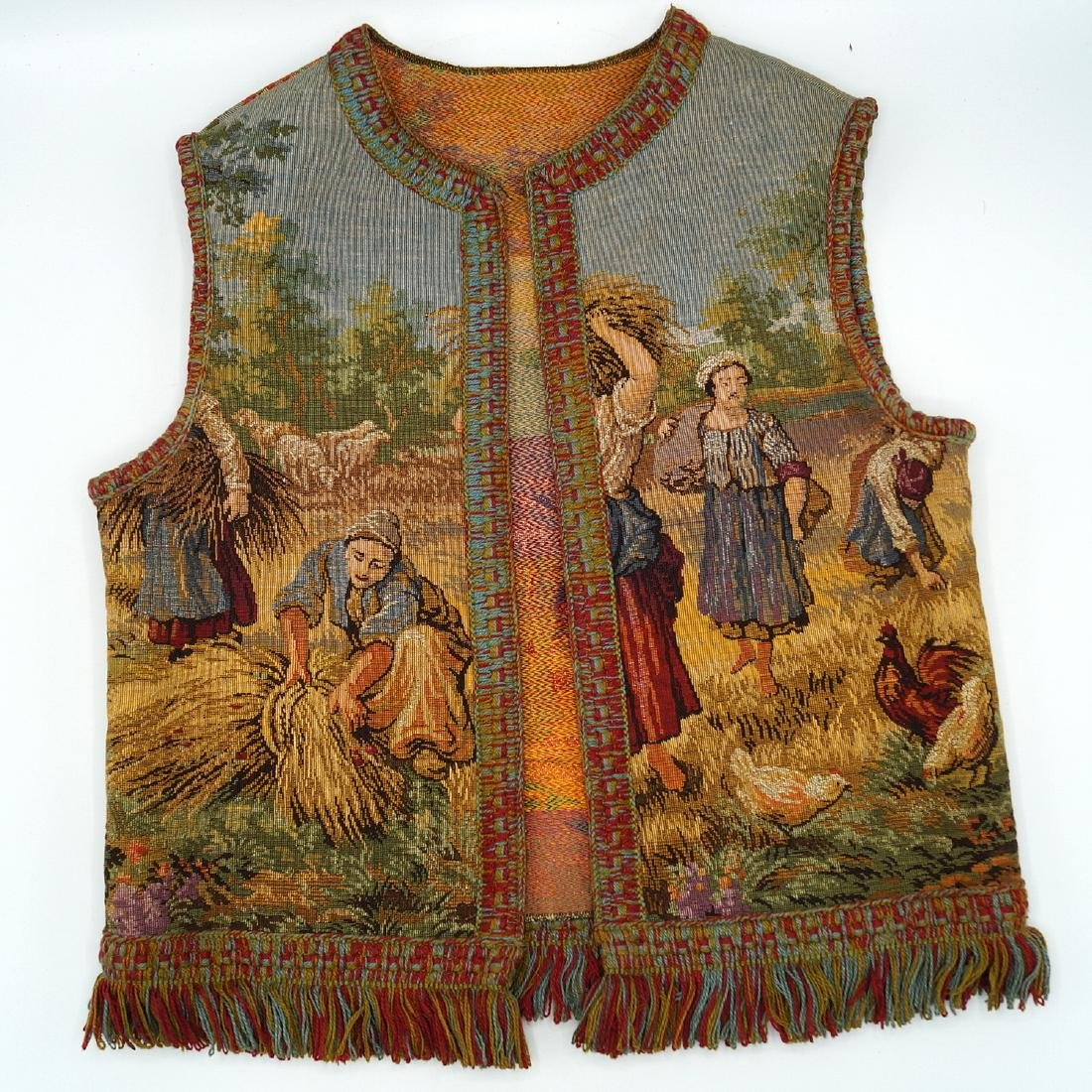 CHILDS MACHINE MADE TAPESTRY VEST