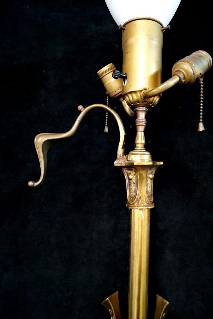 BRASS TRIPOD FLOOR LAMP - 2