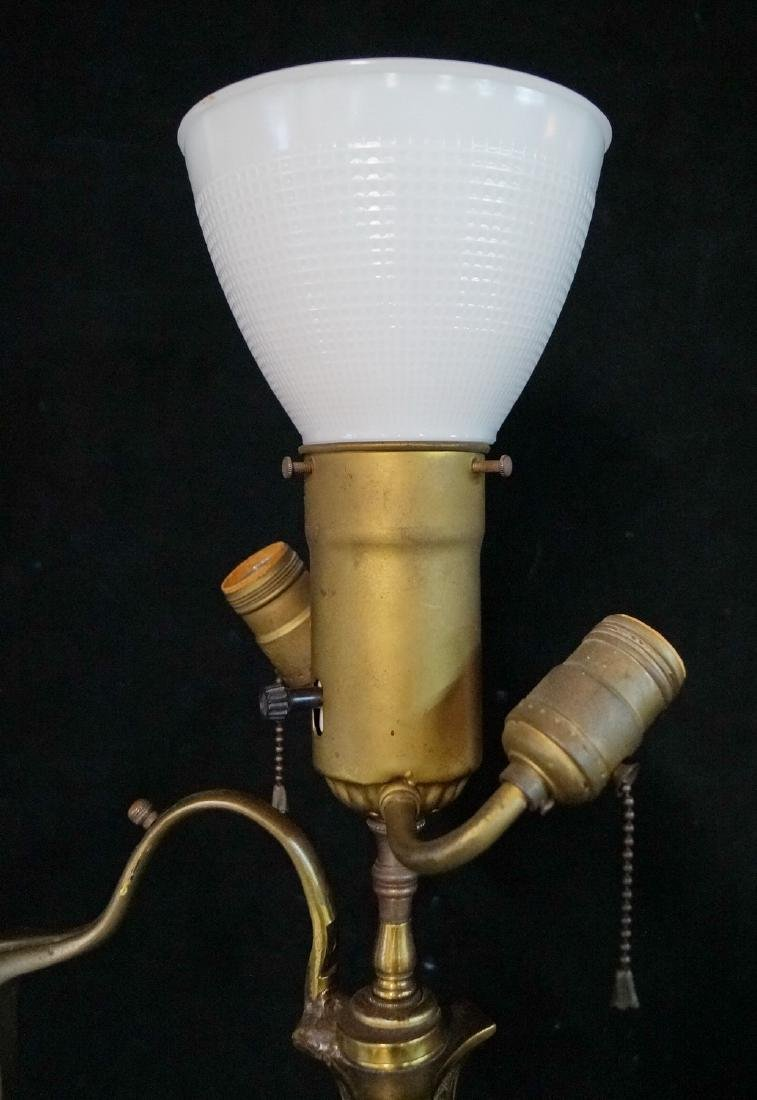 BRASS TRIPOD FLOOR LAMP - 3