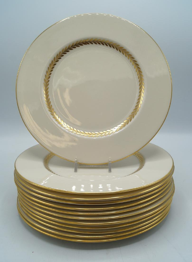12 LENOX SALAD PLATES