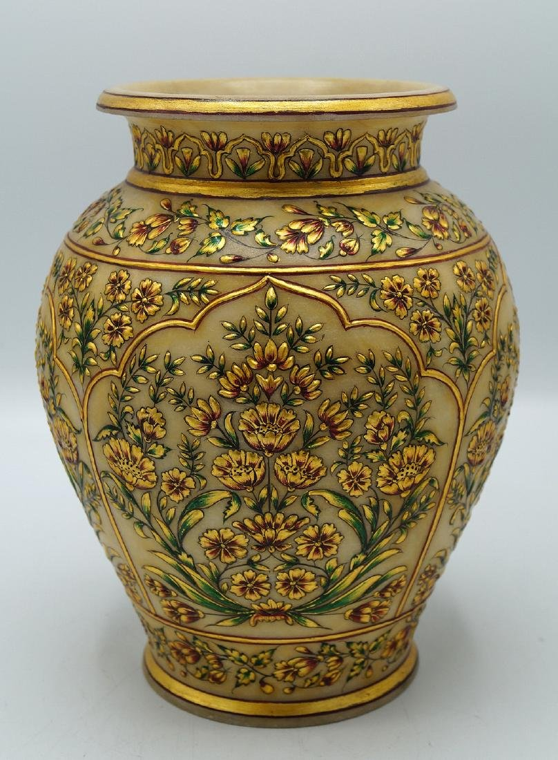 DECORATED ALABASTER VASE - 5