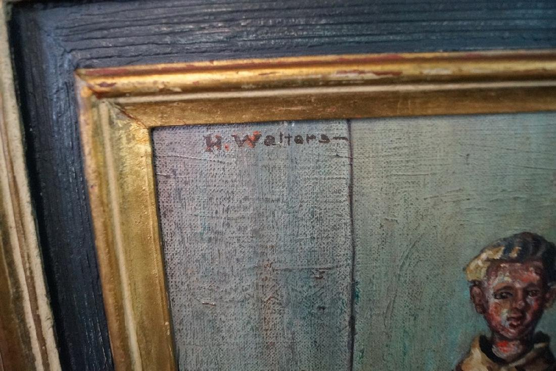 "H. WALTERS SGN. OIL ON ARTISTS BOARD ""SOUVENIRS OF OLD - 2"