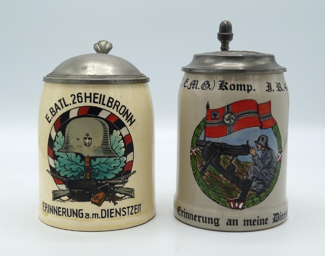 2 GERMAN MILITARY STEINS