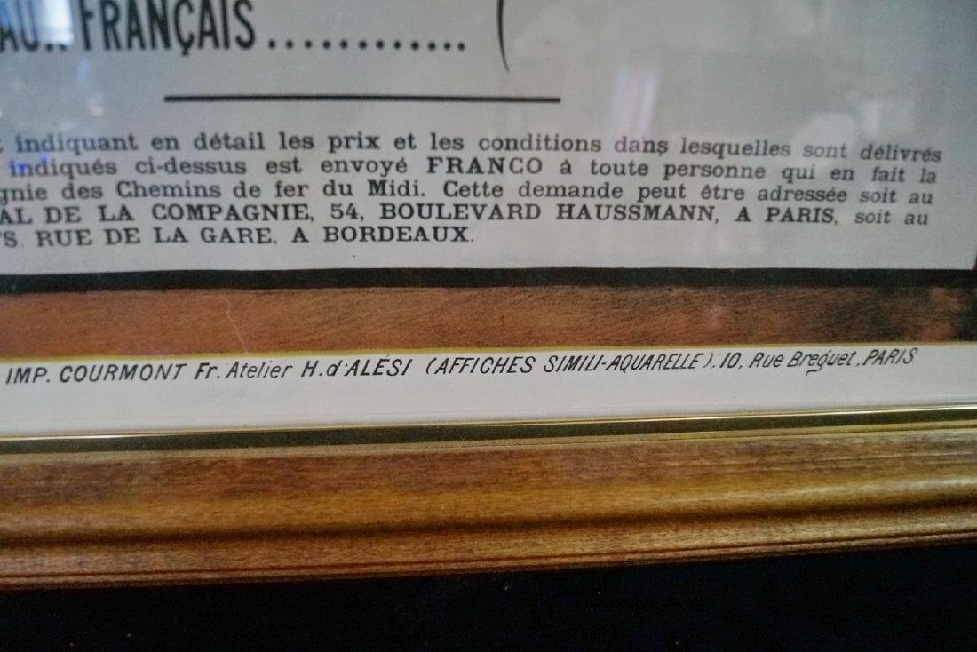 CHEMINS DE FER DU MIDI FRENCH LITHOGRAPH - 4