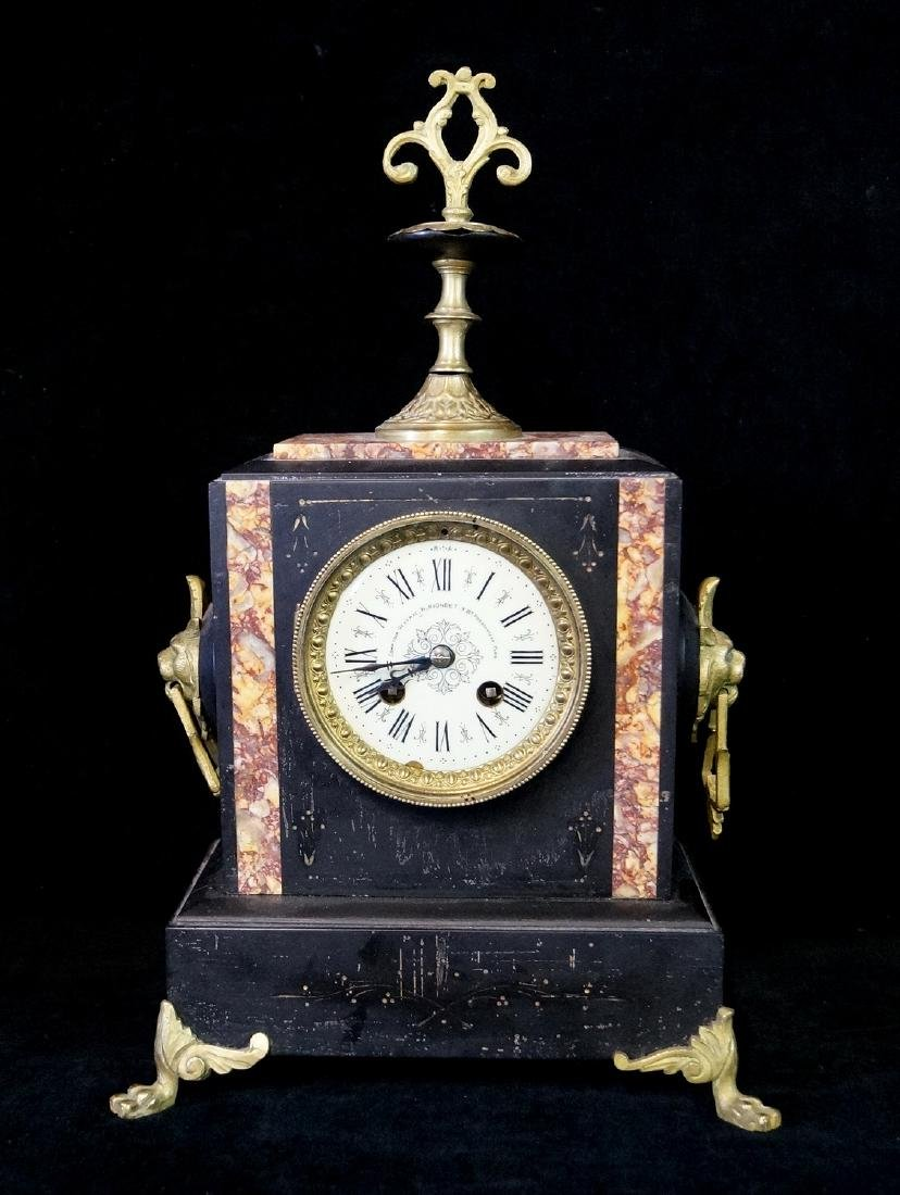 H. RIONDET FRENCH MARBLE CLOCK