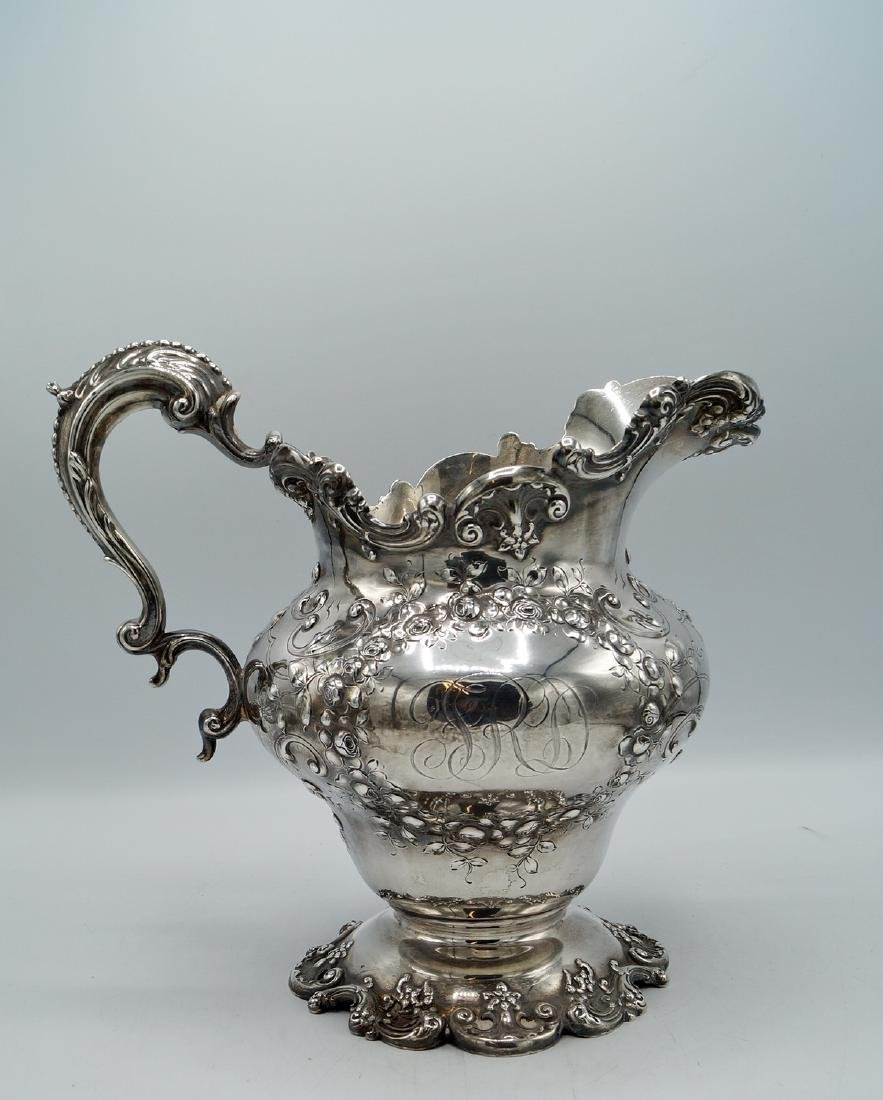 STERLING REPOUSSE PITCHER