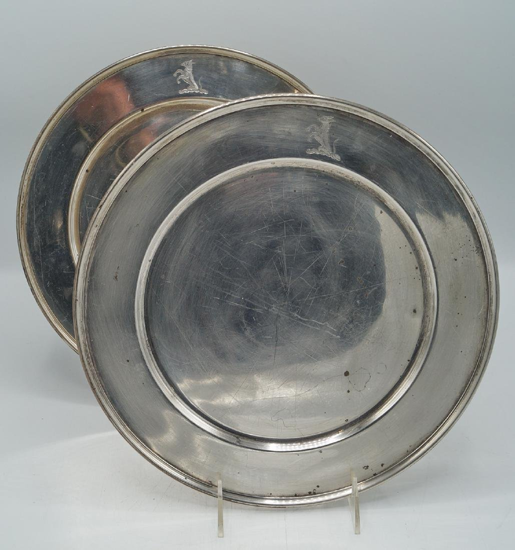 2 STERLING SERVICE PLATES