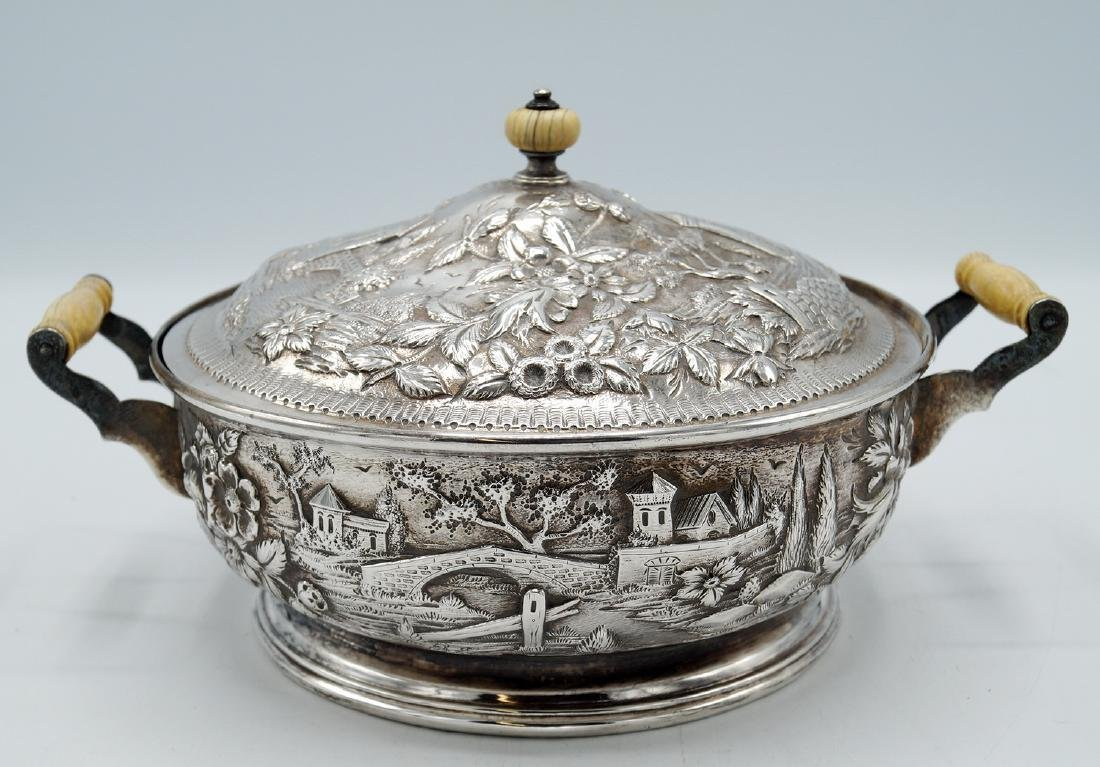 S. KIRK & SON REPOUSSE COVERED BOWL