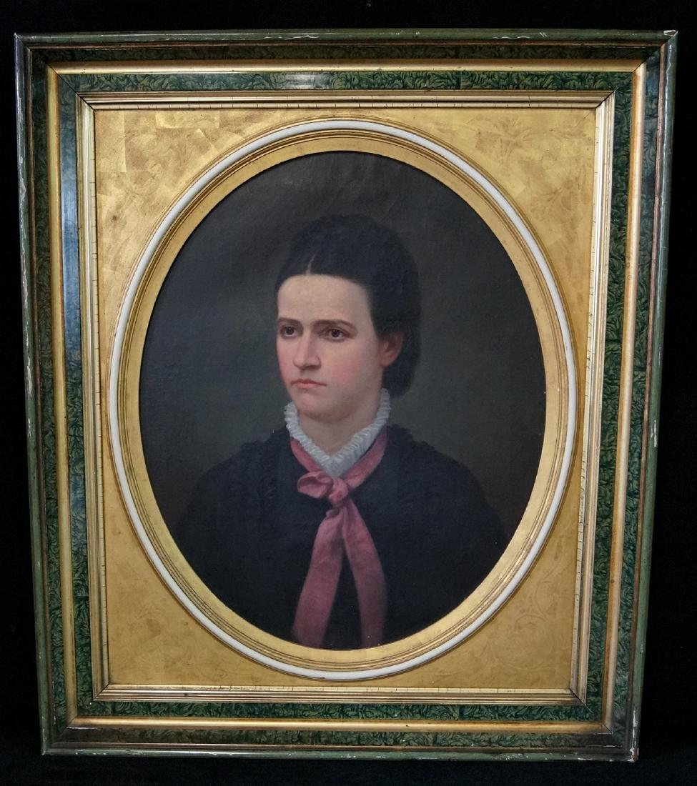 J. REID ATTRIBUTED OIL ON CANVAS PORTRAIT OF A YOUNG