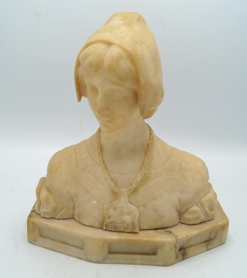 ANGIOLO MALOVOTTI CARVED MARBLE BUST