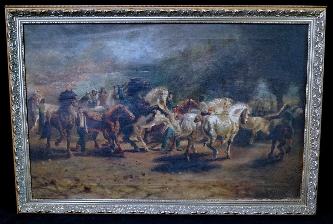 """WALTER SARGEANT ATTRIBUTED """"THE HORSE FARM"""""""