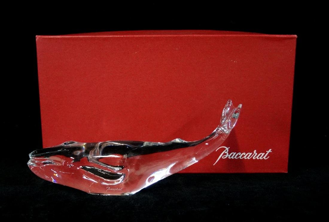 BACCARAT CRYSTAL WHALE W/ BOX