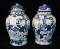 PR BLUE  WHITE TEMPLE JARS