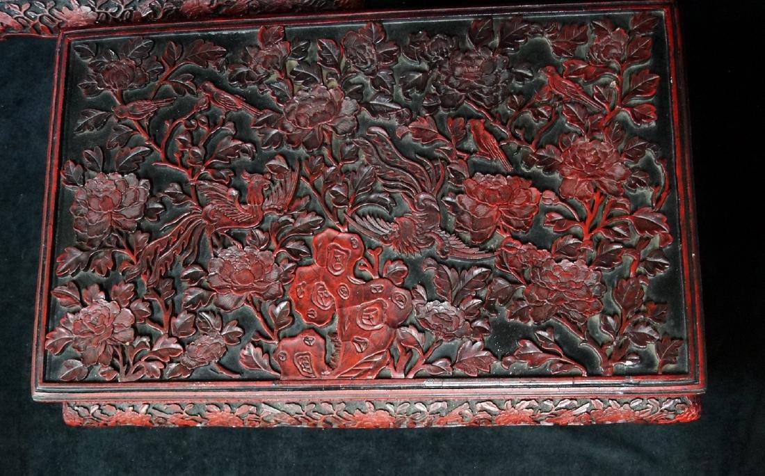 PR. ASIAN FAUX CINNABAR STANDS - 3