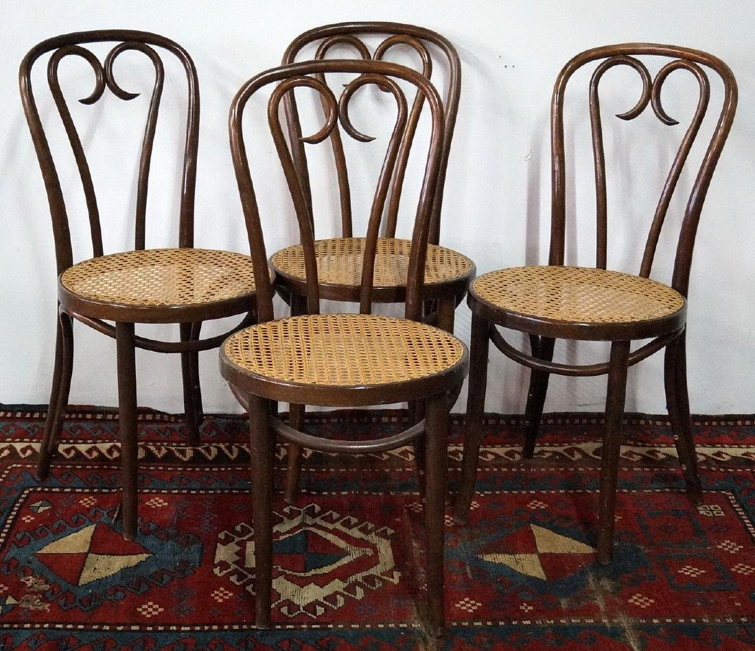 4 THONET BENTWOOD BISTRO CHAIRS