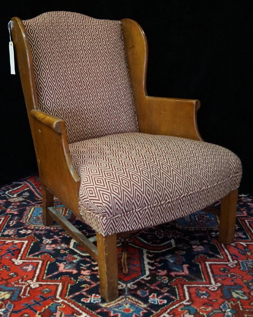 VINTAGE DIMINUTIVE WING CHAIR W/CLARENCE HOUSE