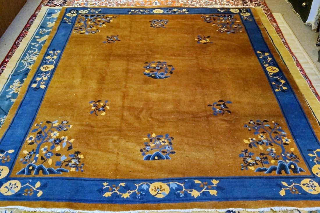 CHINESE RUG BLUE & BROWN 7.8' X 9.8'