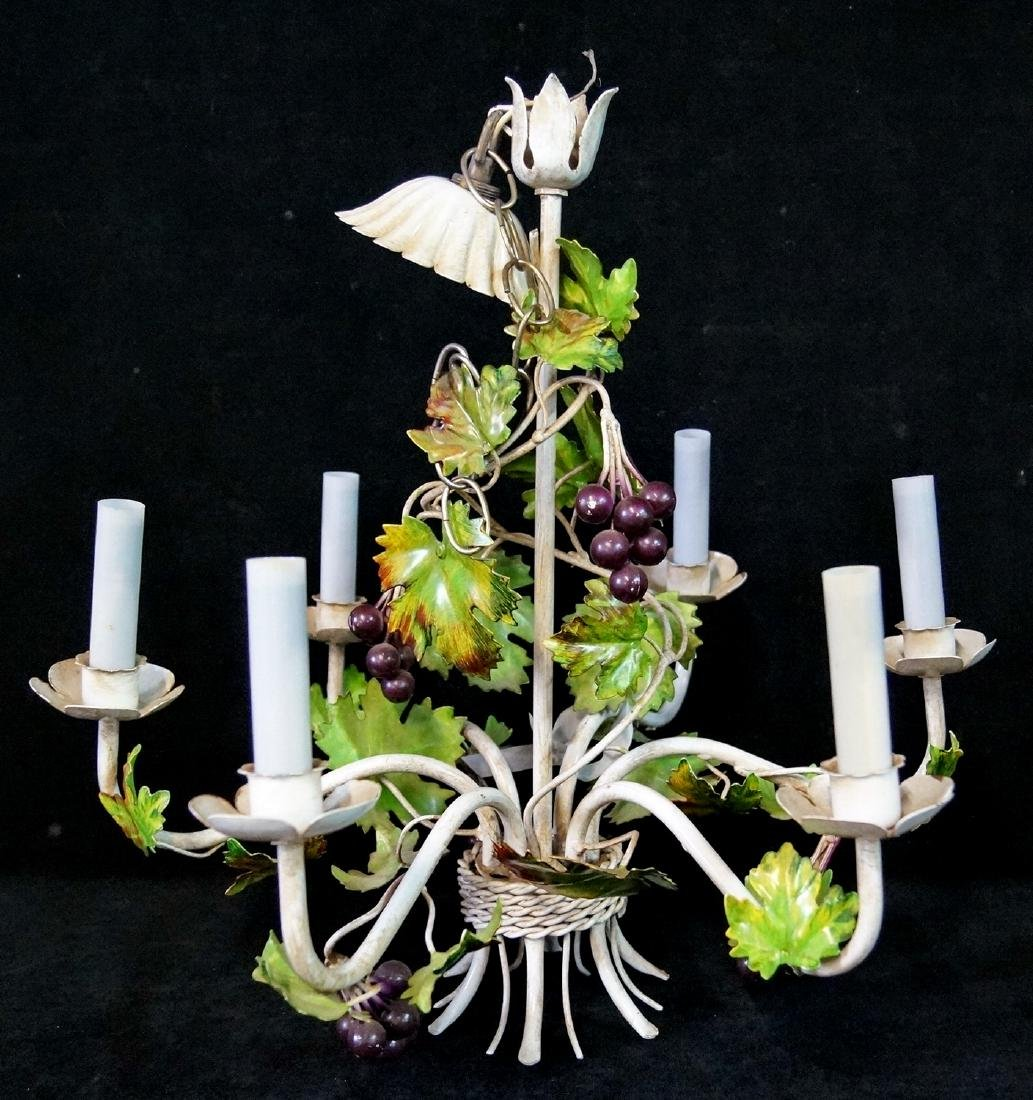 WROUGHT IRON GRAPE FIGURAL FIXTURE