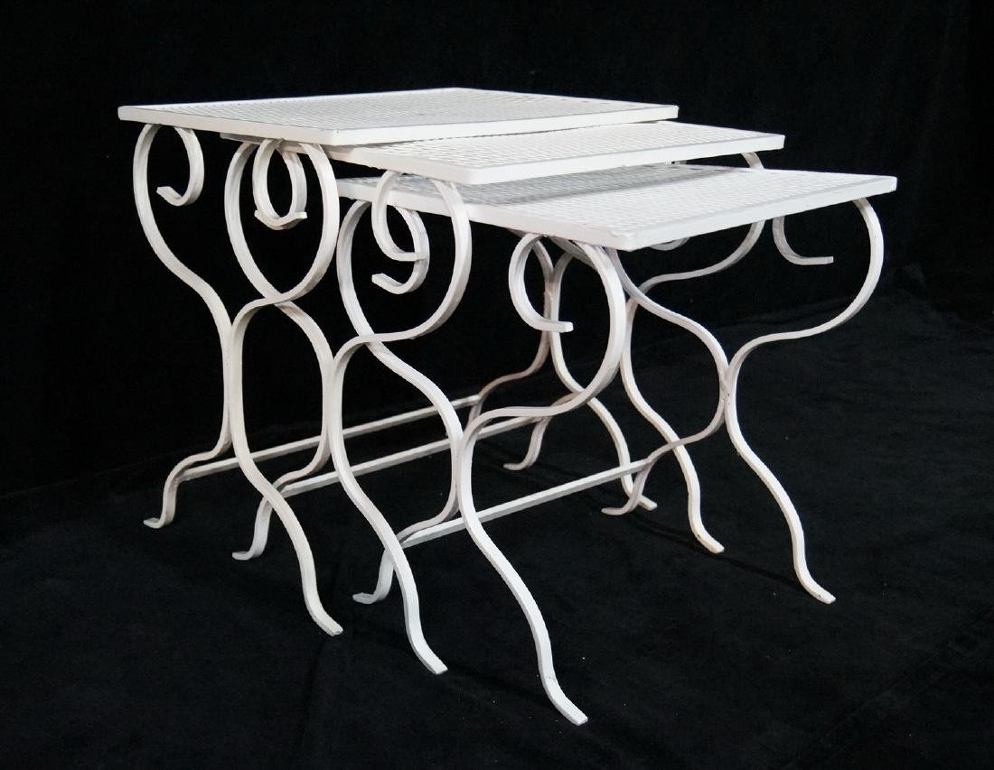 NEST 3 WROUGHT IRON TABLES