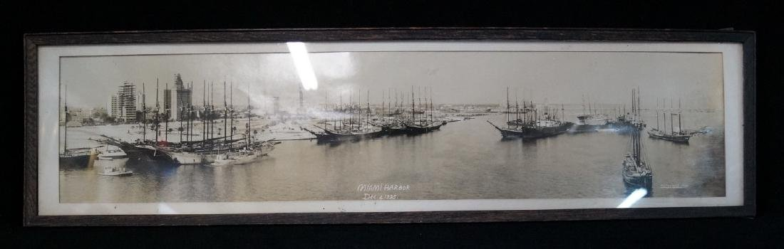 FRAMED PHOTO MIAMI HARBOR DEC. 4, 1925