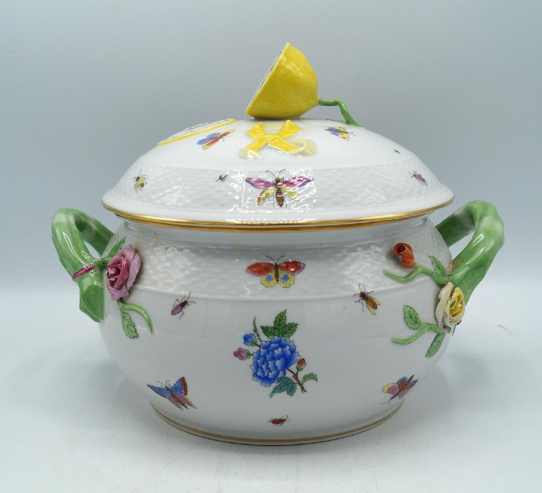 HEREND PORCELAIN COVERED TUREEN