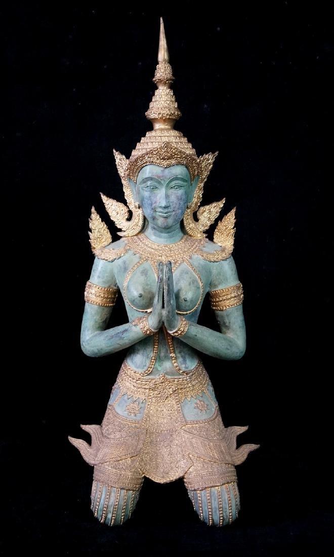 THAILAND PARCEL GILT BRONZE BUDDHA