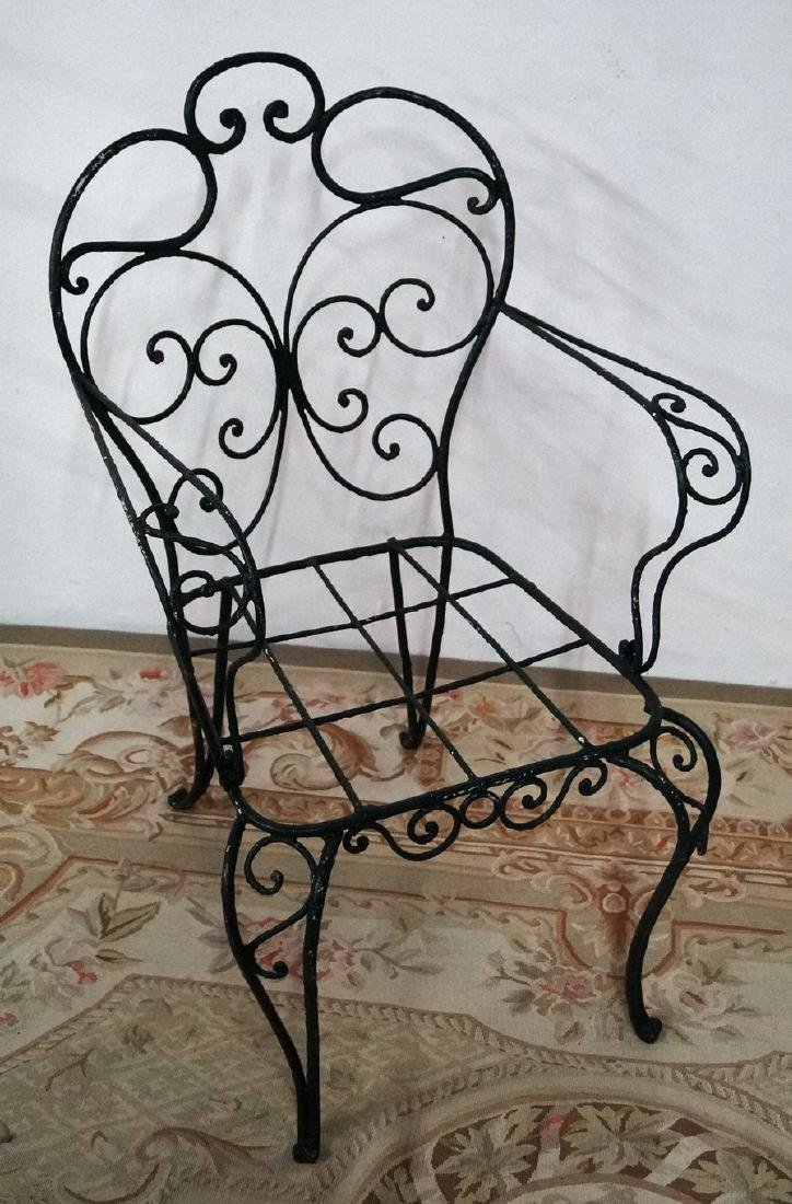 VINTAGE FRENCH WIRE ARM CHAIR