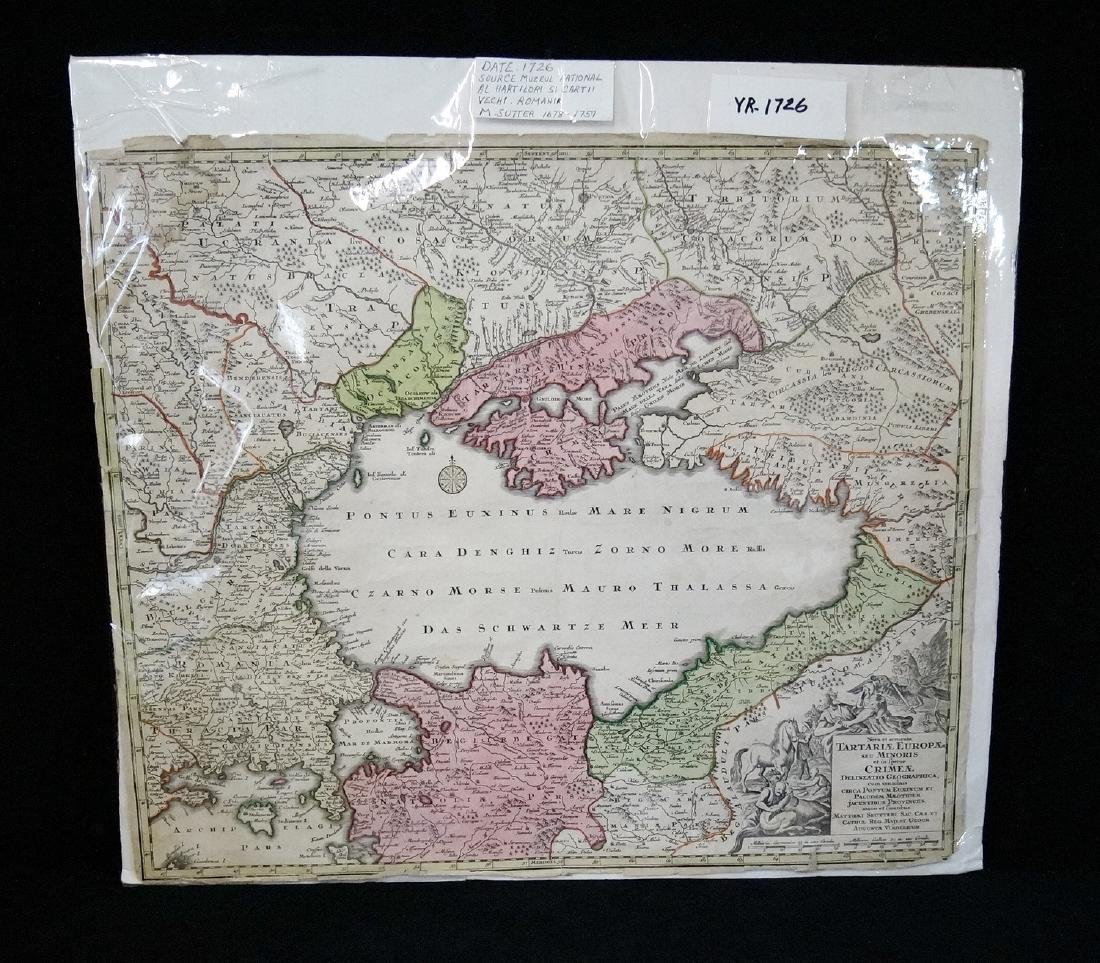 MAP ROMANIA MARKED 1726