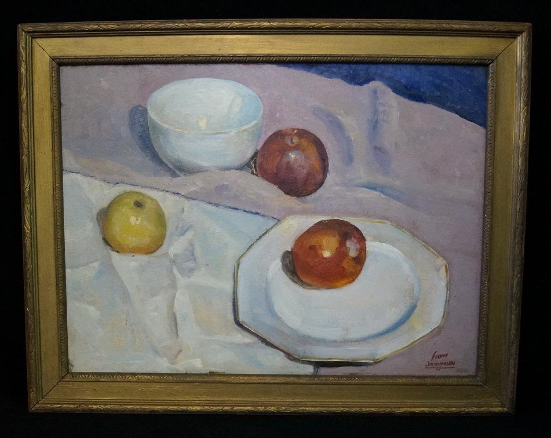 "JOCHUMSEN OIL ON BOARD ""STILL LIFE"""
