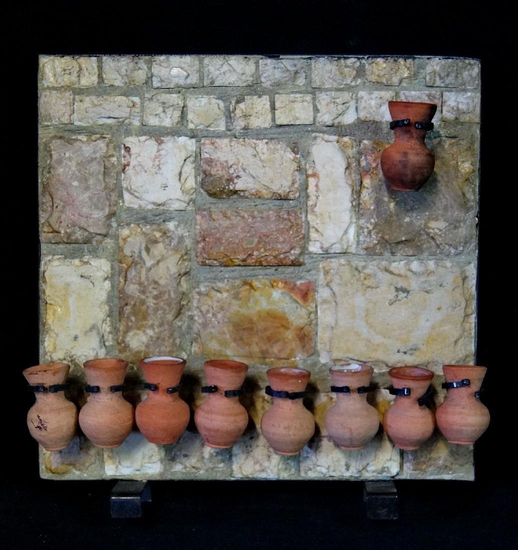 JUDAIC POTTERY MENORAH