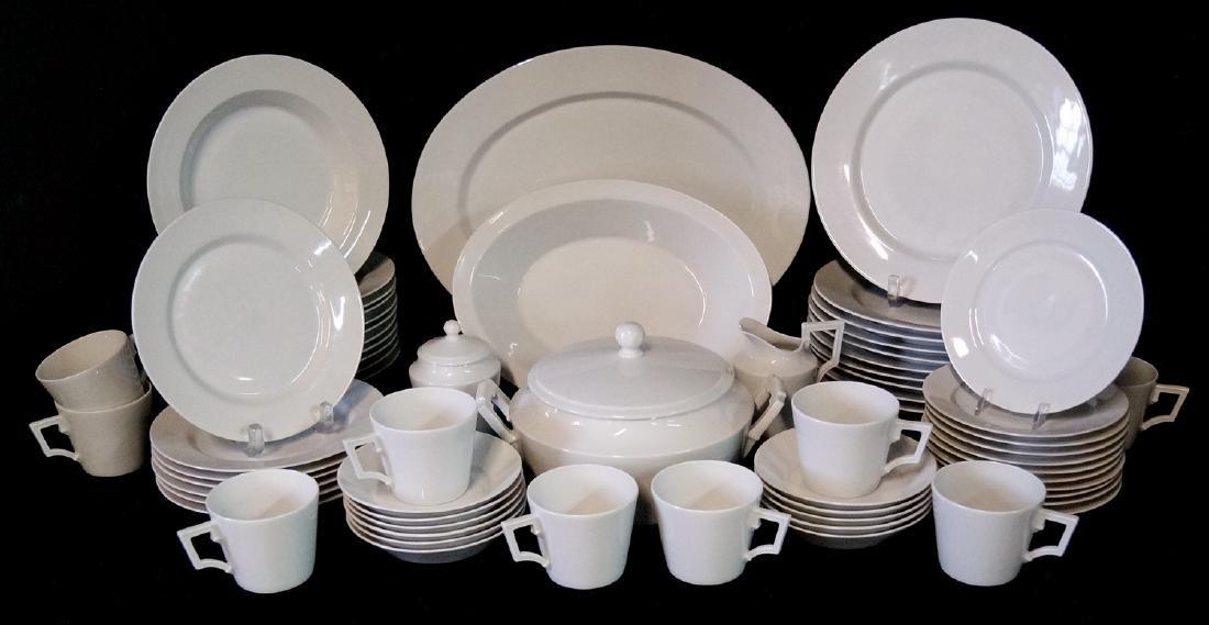 HUTSCHENREUTHER  WHITE PORCELAIN DINNERWARE