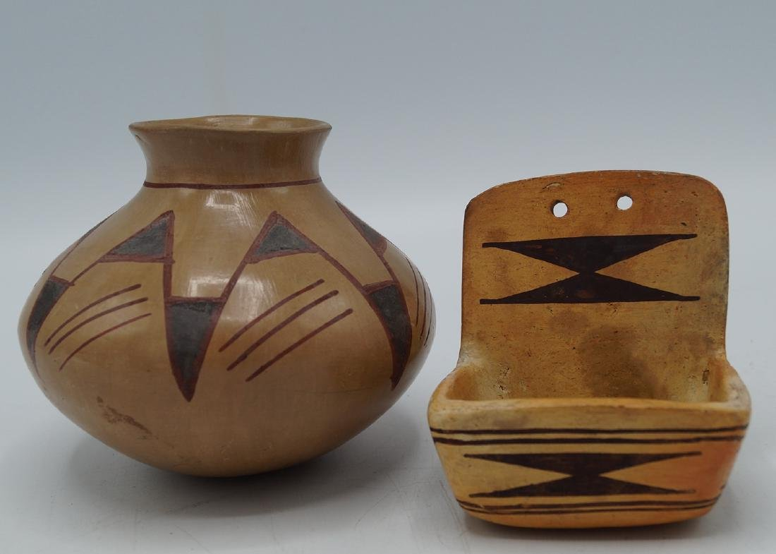 2 PCS. NATIVE AMERICAN POTTERY